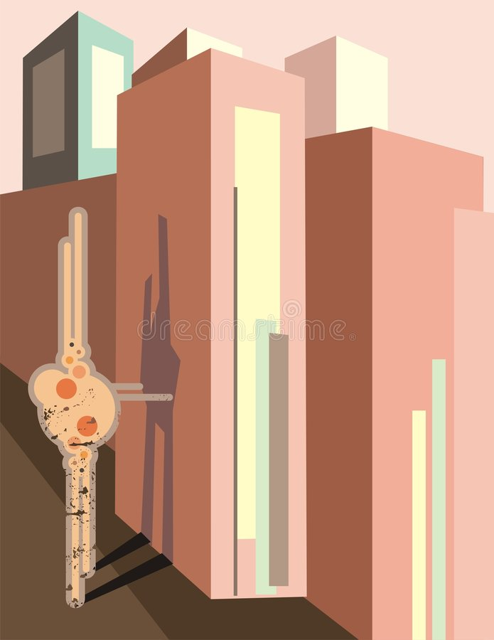 stads- bakgrund vektor illustrationer