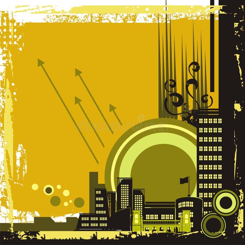 stads- bakgrundsserie stock illustrationer