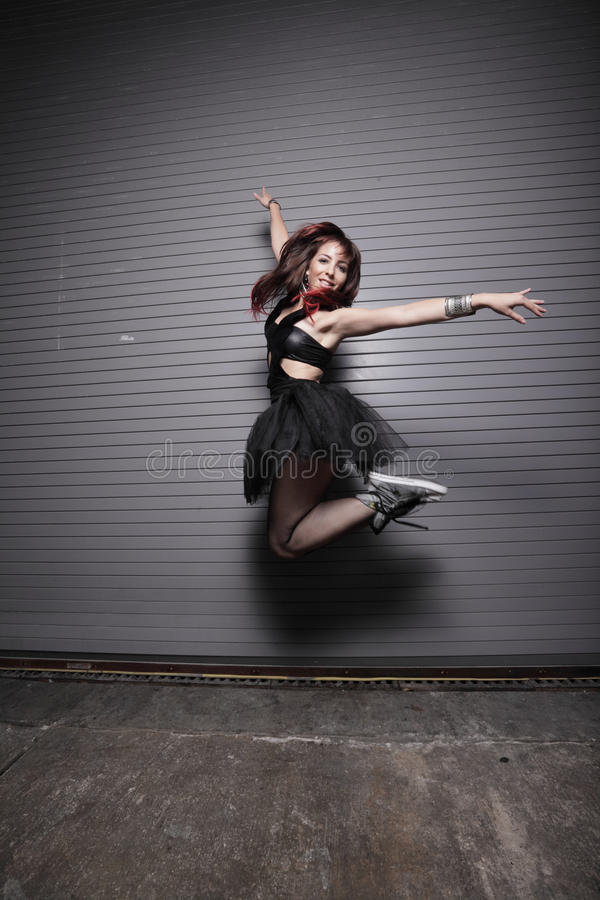stads- ballerina royaltyfri foto