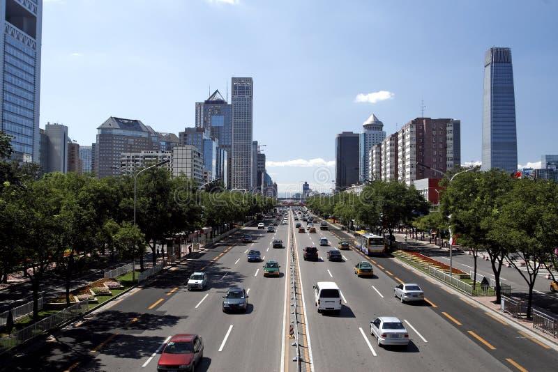 stads- beijing s streetscape royaltyfri foto
