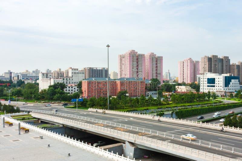 stads- beijing s trafik arkivfoto
