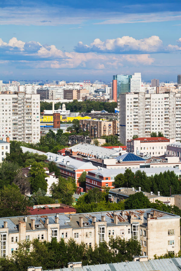 Stads- bostadsområden royaltyfri bild