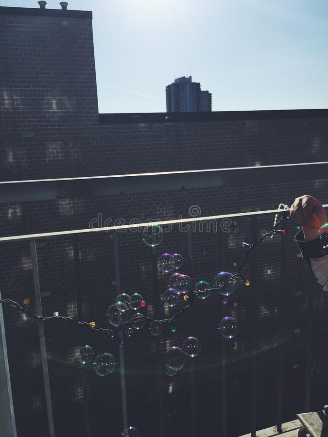 Stads- bubblor royaltyfri bild