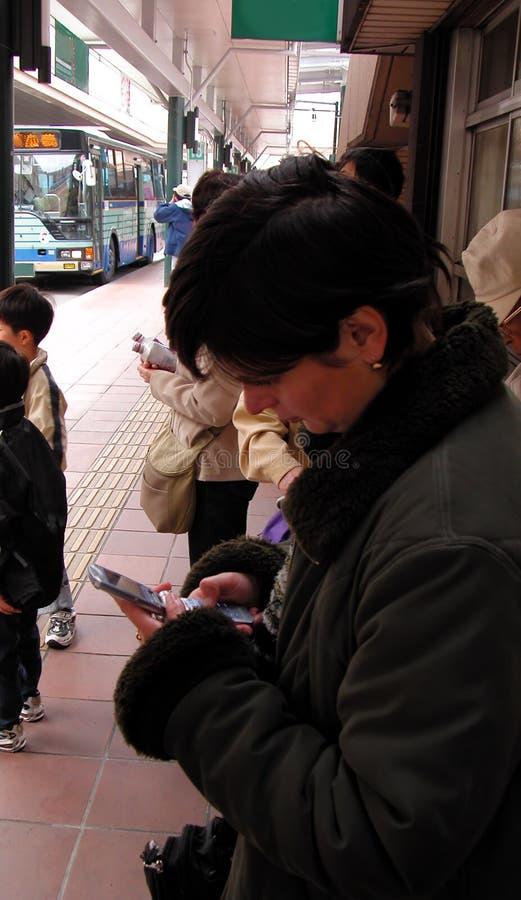 stads- bussstation arkivbild