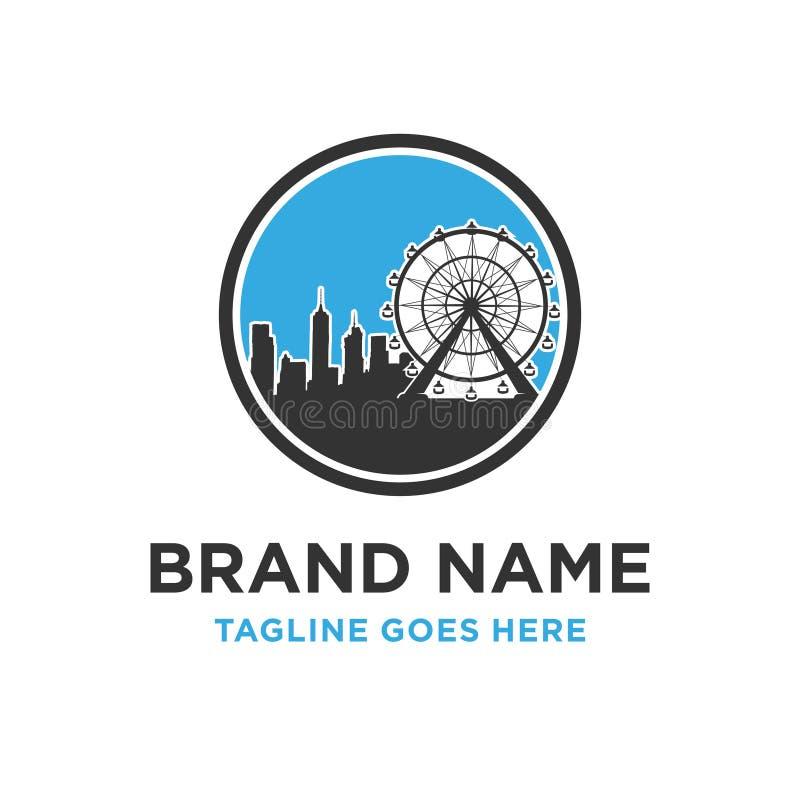 Stads- byggande logo stock illustrationer