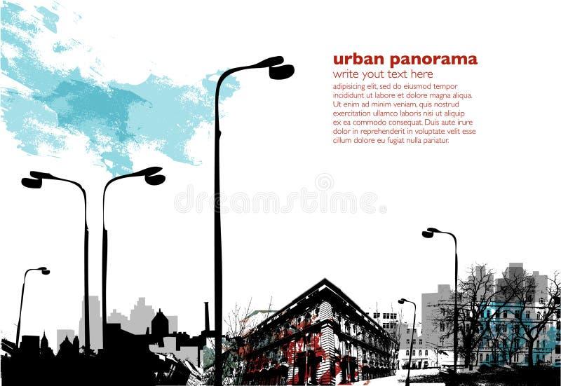 stads- collage royaltyfri illustrationer