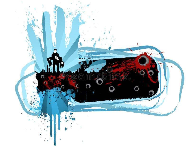 stads- designelementmord stock illustrationer
