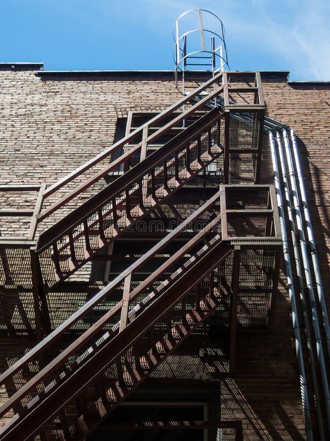 stads- escapebrand fotografering för bildbyråer