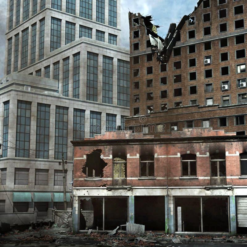 stads- förstörelse stock illustrationer