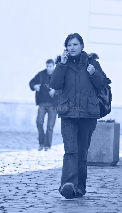 stads- flicka arkivbild