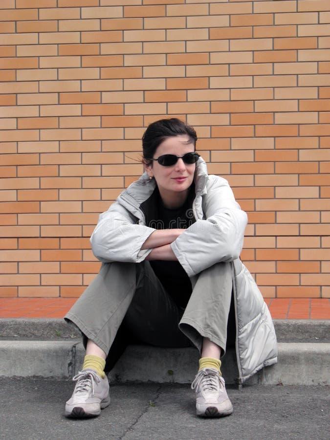 stads- flicka royaltyfri fotografi