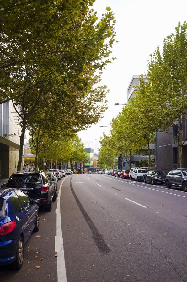 Stads- gata Rhodes Sydney Australia fotografering för bildbyråer