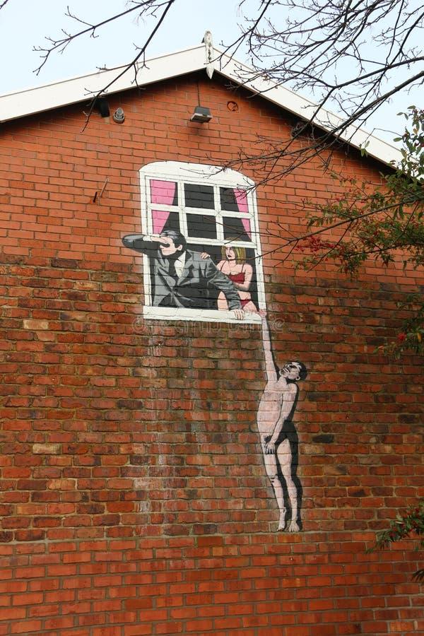 Stads- gatakonst/grafitti arkivbilder