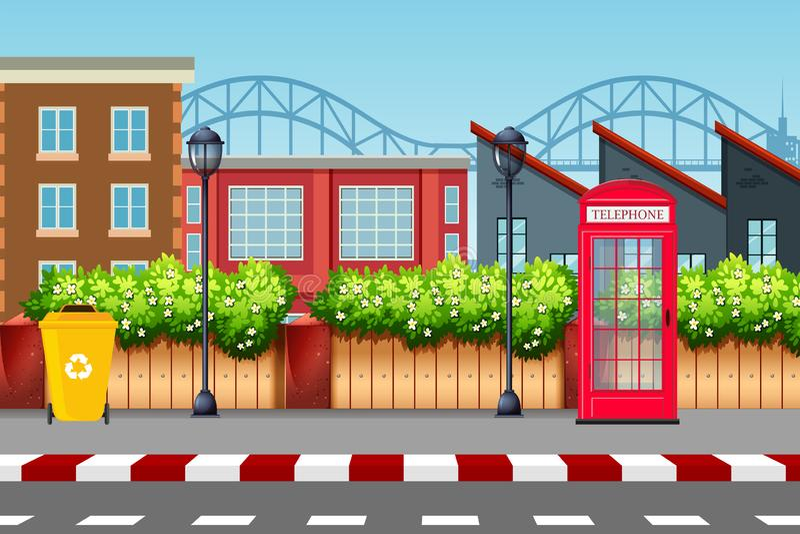 Stads- gataplatsbakgrund vektor illustrationer