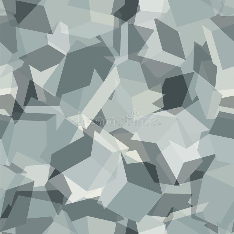 Stads- geometrisk kamouflage Digital sömlös modell vektor illustrationer