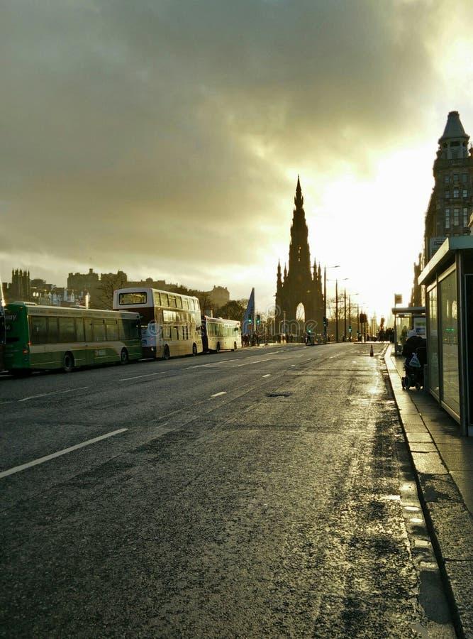 Stads gouden uur stock fotografie