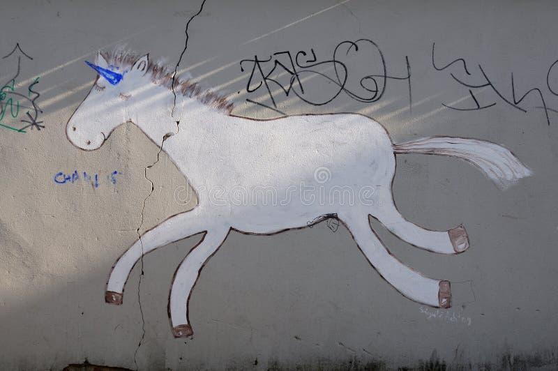 stads- grafitti arkivbilder