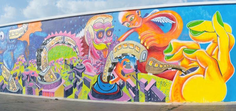 Stads- grafittikonst royaltyfria foton