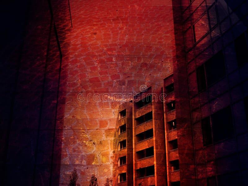 stads- grunge arkivfoton
