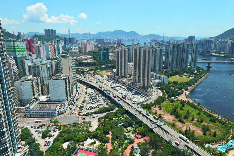 stads- Hong Kong arkivbild