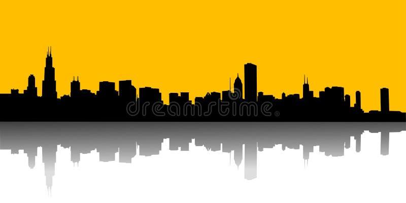 stads- horisonter stock illustrationer