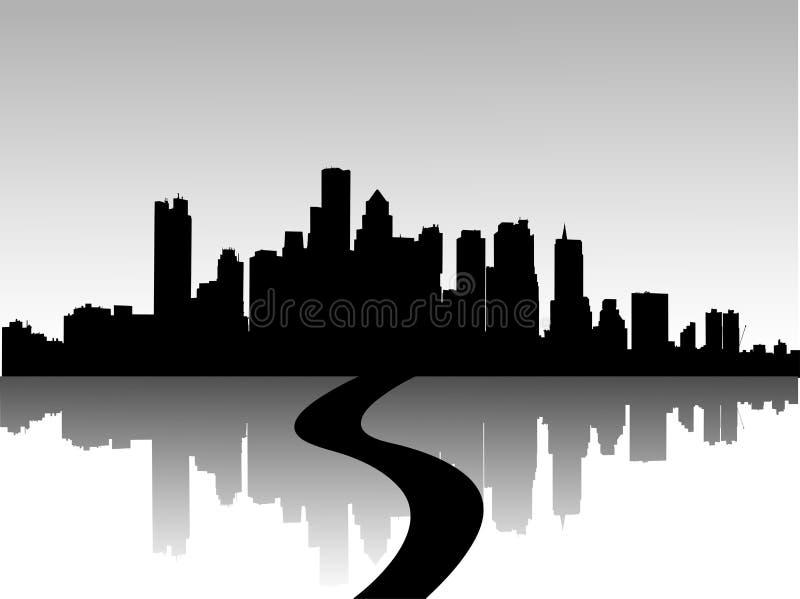 stads- horisonter royaltyfri illustrationer