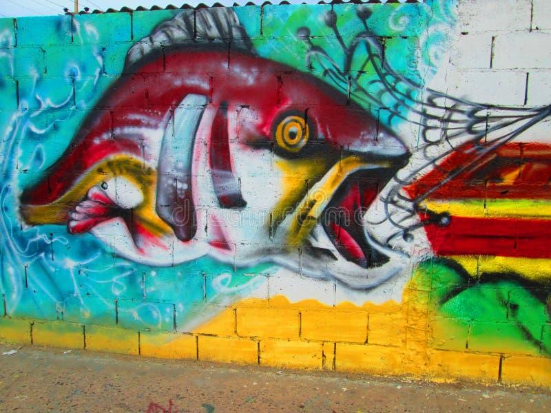 Stads- konst, fisk arkivbilder