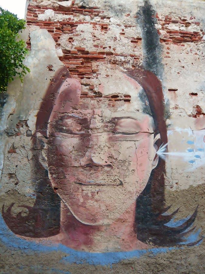 Stads- konst i Cartagena de Indias royaltyfri bild