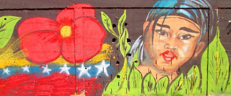stads- konst Infödd flicka arkivbild