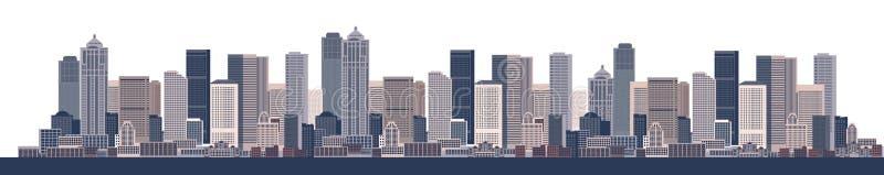 stads- konstbakgrundscityscape vektor illustrationer