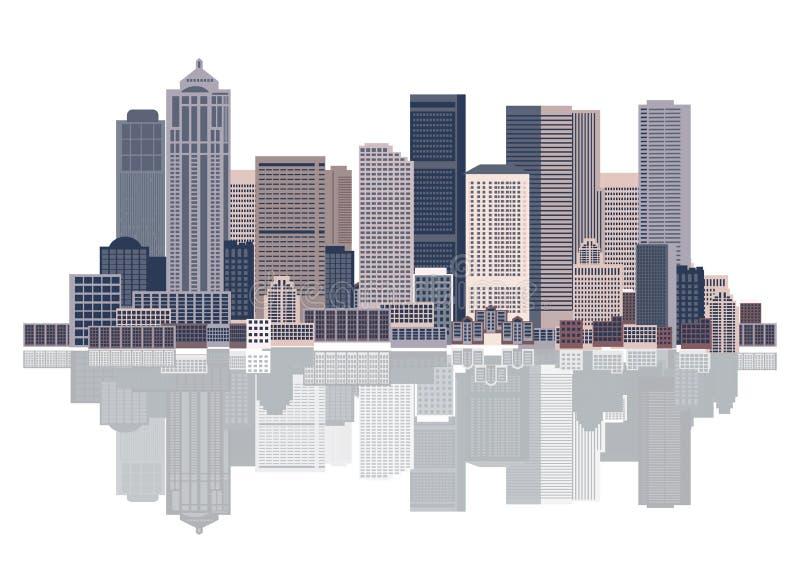 stads- konstbakgrundscityscape royaltyfri illustrationer