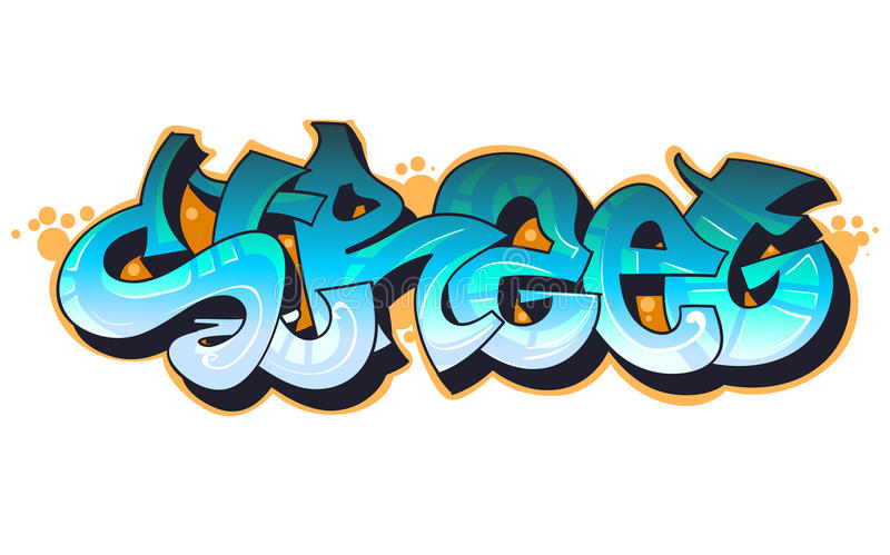 stads- konstgrafitti royaltyfri illustrationer
