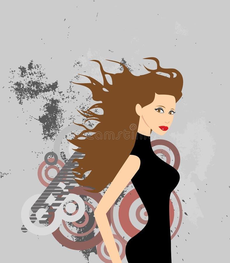 stads- kvinna royaltyfri illustrationer
