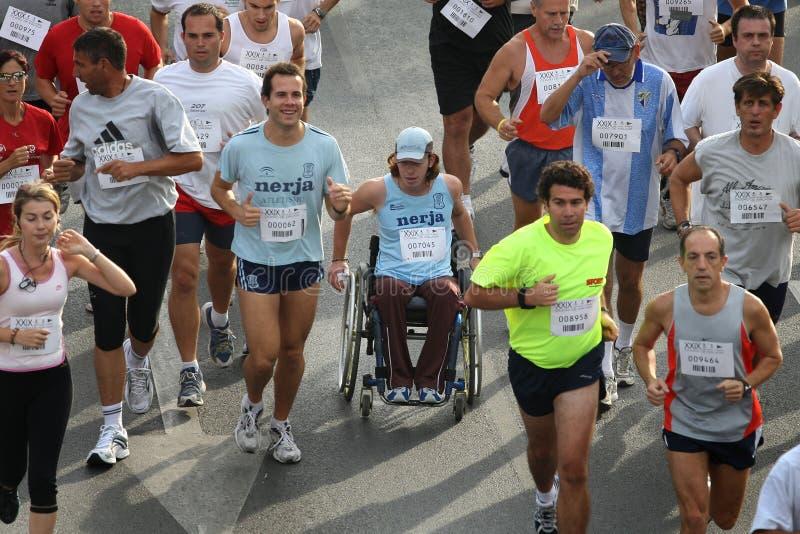 stads- löpare 2007 för stadsmalaga race fotografering för bildbyråer