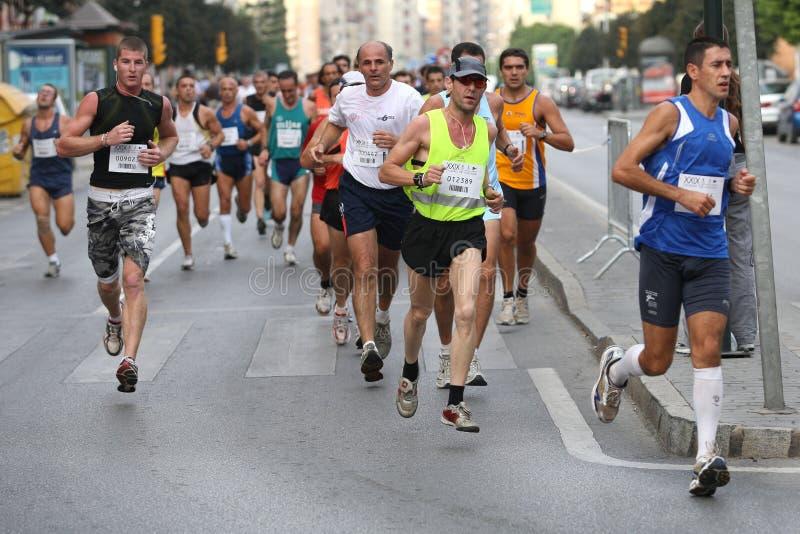 stads- löpare 2007 för stadsmalaga race royaltyfri bild