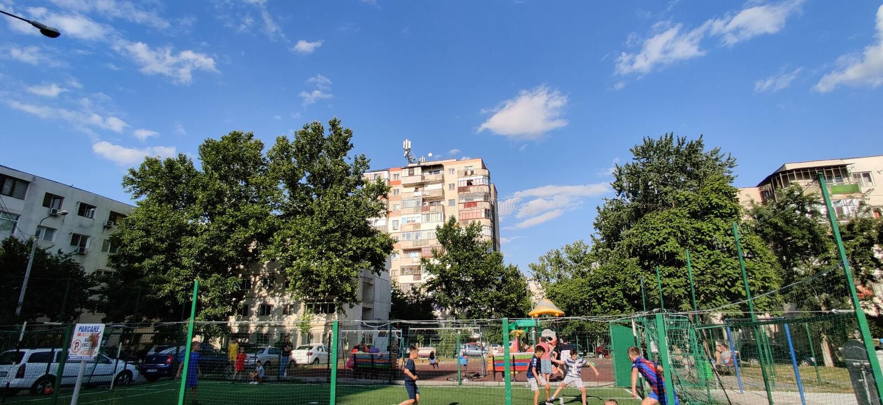 Stads- landskap av den Slobozia staden arkivfoton