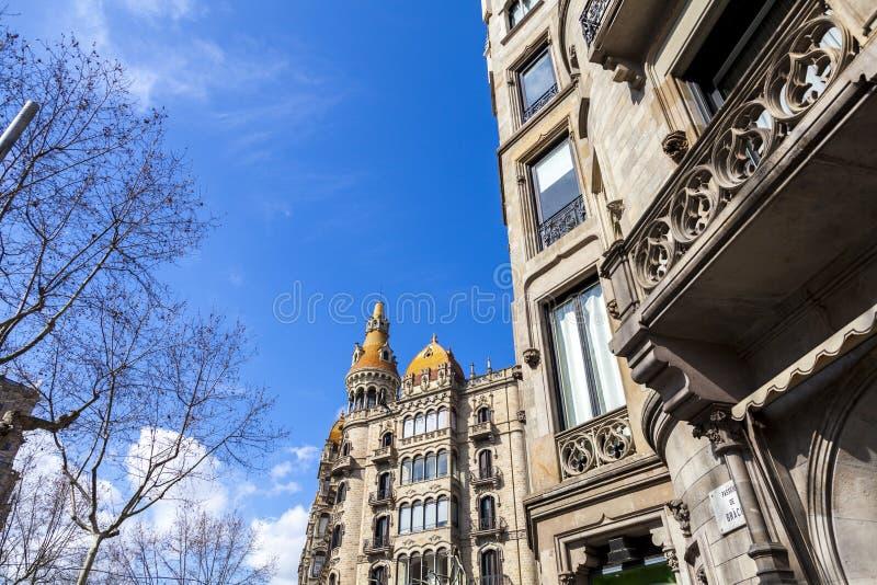 Stads- landskap i Barcelona royaltyfria foton