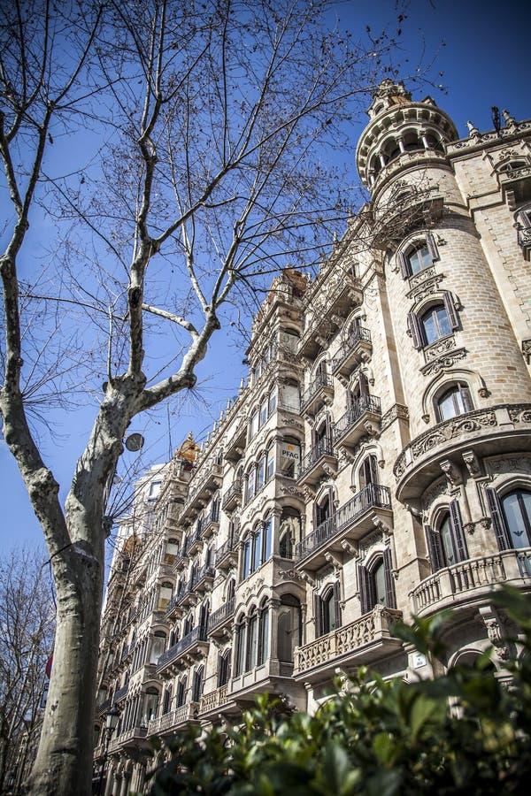 Stads- landskap i Barcelona arkivfoton