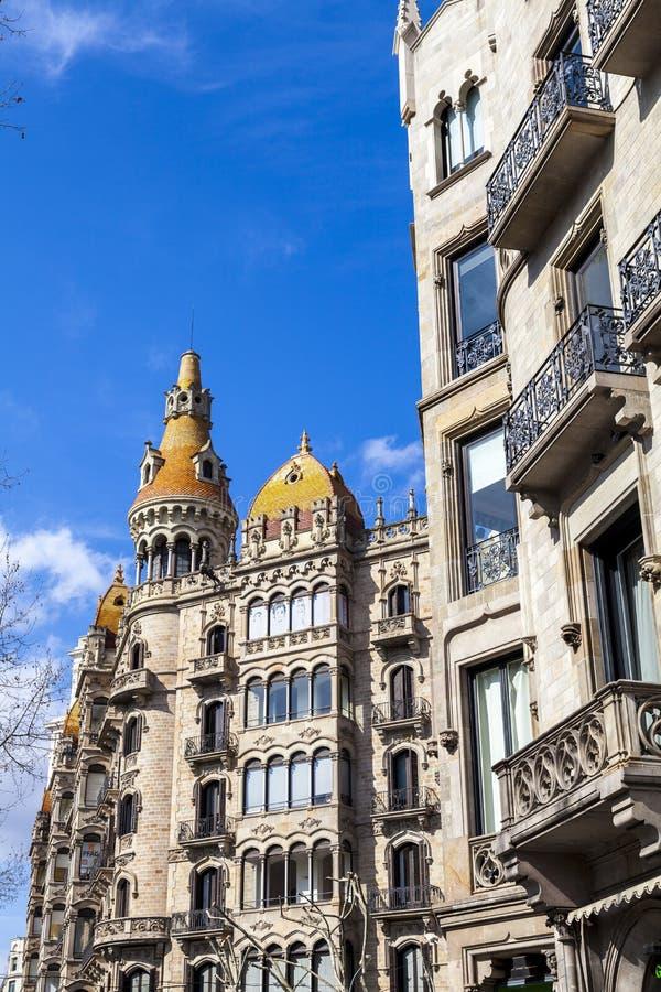 Stads- landskap i Barcelona royaltyfri foto