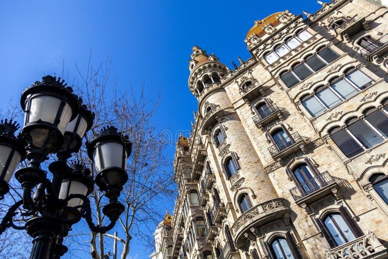 Stads- landskap i Barcelona arkivbilder