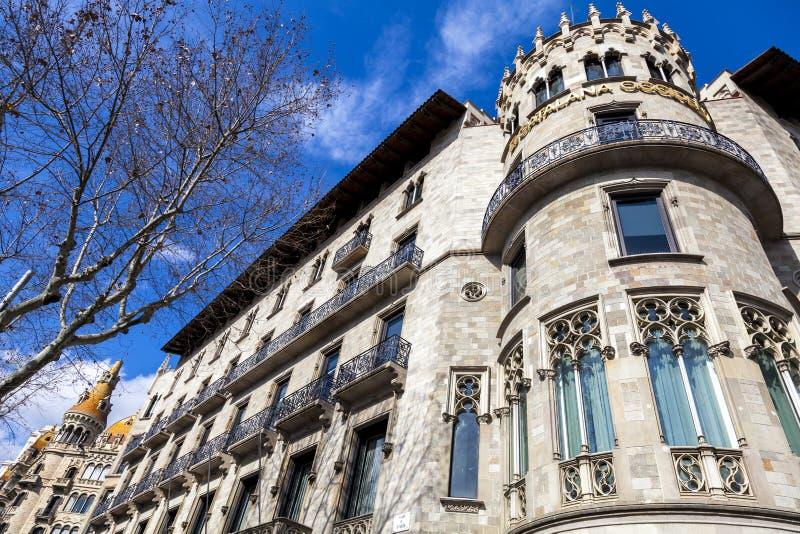 Stads- landskap i Barcelona royaltyfri fotografi