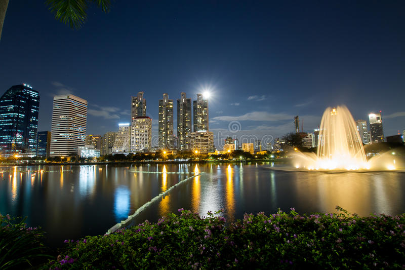 Stads lichte nacht royalty-vrije stock foto's