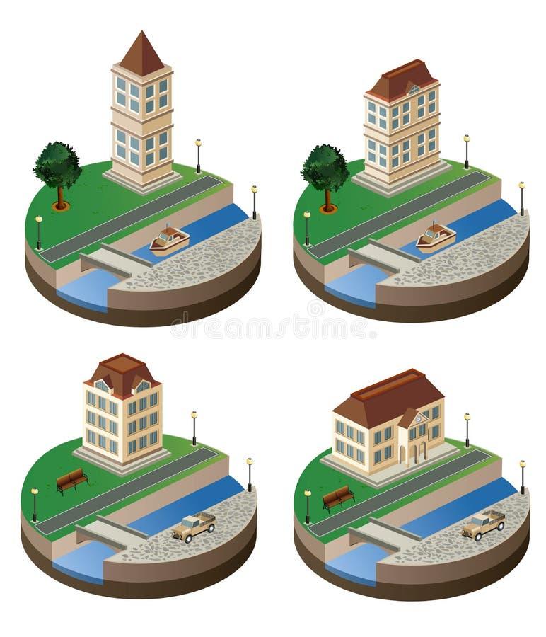Stads- liggande royaltyfri illustrationer