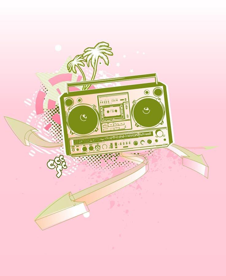 Stads- musikbakgrund vektor illustrationer