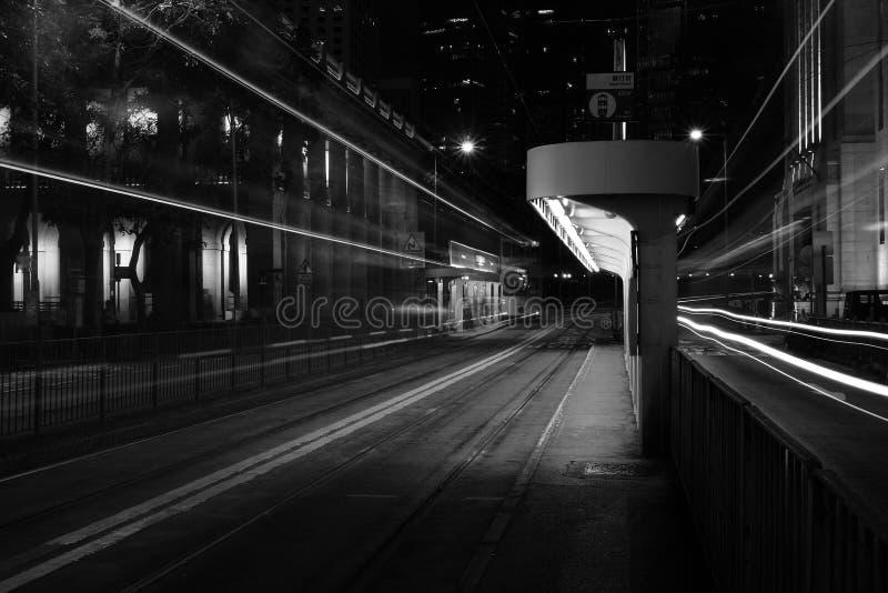 Stads nooit slaap stock fotografie