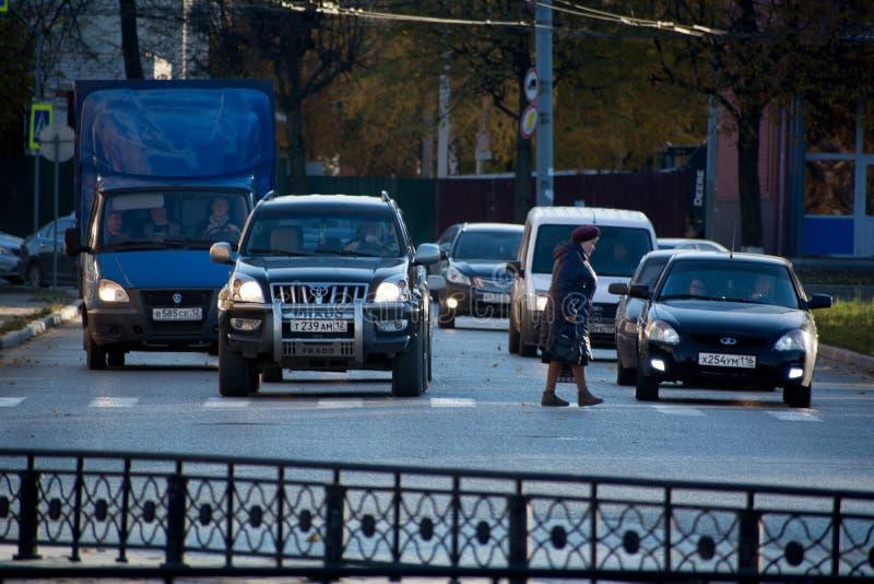 Stads- plats av trafik fotografering för bildbyråer