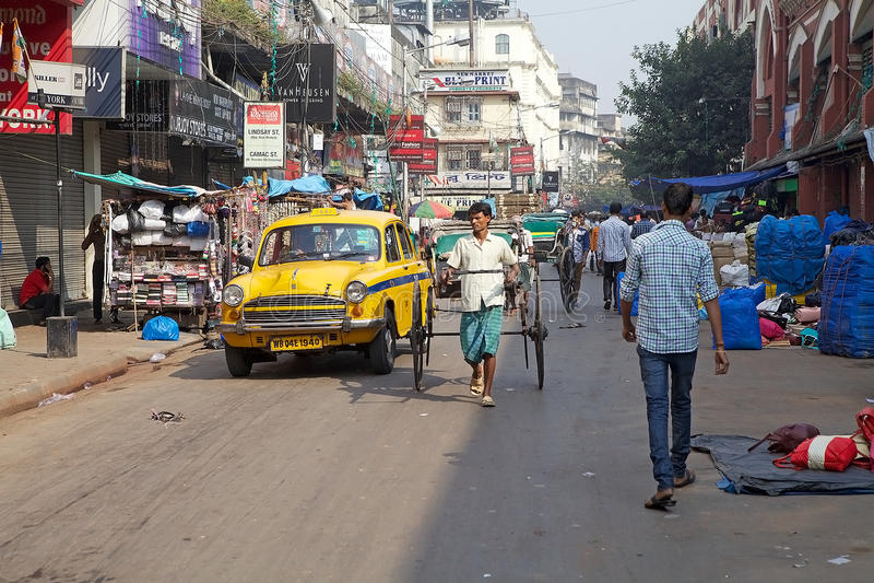Stads- plats i Kolkata, Indien royaltyfria foton