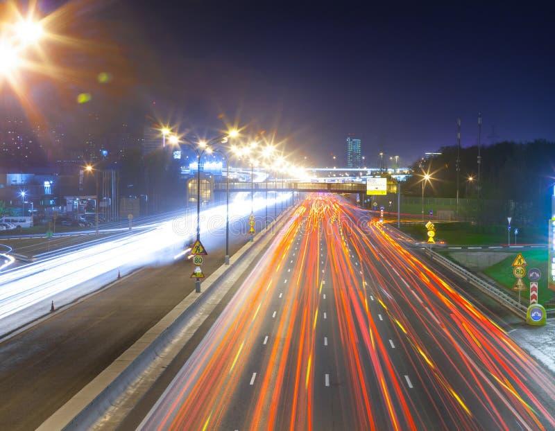 Stads- stadsväg royaltyfri foto
