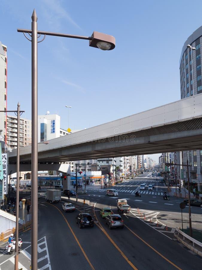 Stads stedelijk landschap in Tokyo royalty-vrije stock foto's