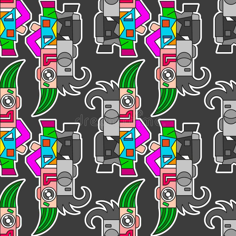 Stads- stil för Grunge vektor illustrationer